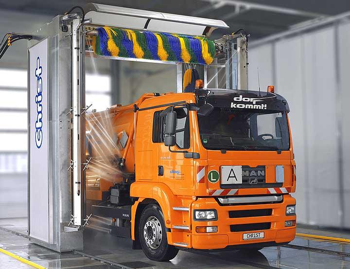 автоматическая мойка для грузовых автомобилей